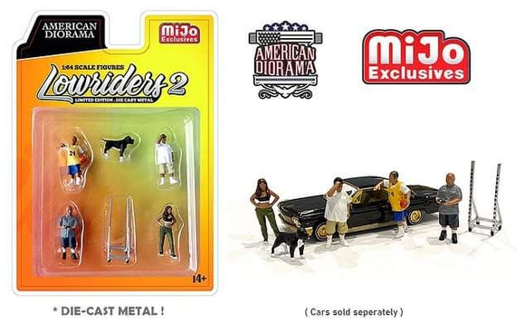 * PRE ORDER * American Diorama 1:64 MiJo Exclusives Figures Lowriders II Limited Edition