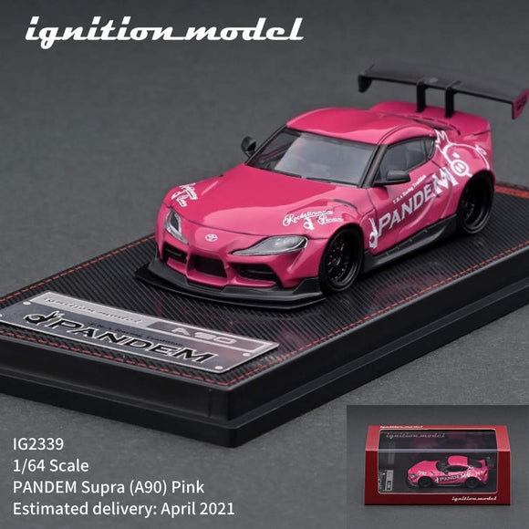 * PRE ORDER * IGNITION MODEL IG2339   1/64 scale PANDEM Supra (A90) Pink