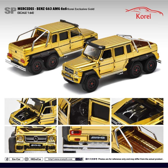ERA CAR #SP MERCEDES BENZ AMG G63 6X6 - GOLD CHROME  ( SINGAPORE EXCLUSIVE  ) - PRE ORDER