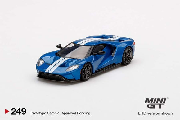 * PRE ORDER * MINI GT #249 1/64 FORD GT LIQUID BLUE (LHD)