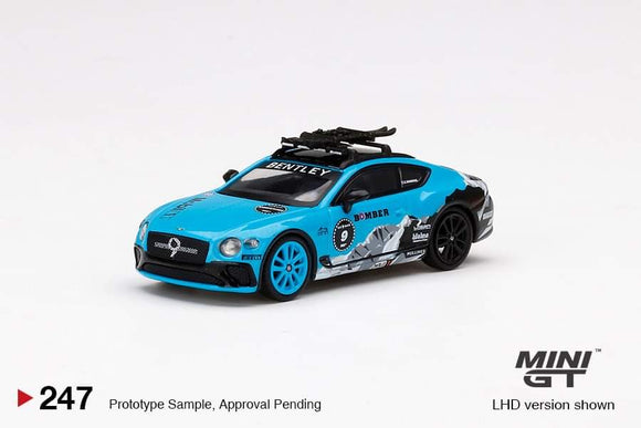 * PRE ORDER * MINI GT #247 1/64 BENTLEY CONTINENTAL GT 2020 GP ICE RACE (LHD)