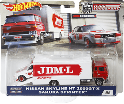 Hot Wheels Nissan Skyline 2000 GT-X/Sakura Sprinter (Team Transporter Series)