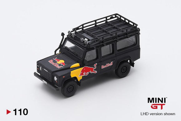 🔵 PRE ORDER 🔵 1/64 MINI GT Land Rover Defender 110 Red Bull LUKA  (LHD)