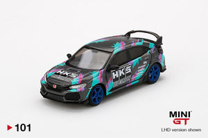 MINI GT 1:64 #101 Honda Civic FK8 HKS 2018 Time Attack(LHD)