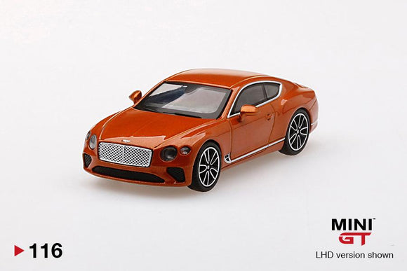 ⚫️  PRE ORDER ⚫️ MINI GT 1:64 #116 Bentley Continental GT Orange Flame