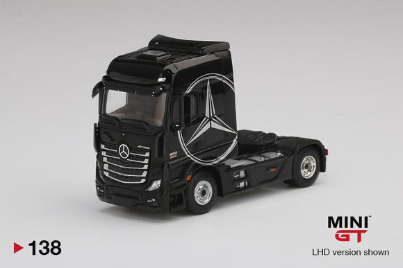 MINI GT #138 1/64 Mercedes Benz Actros With Black Mercedes Logo
