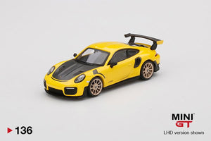 ⚫️  PRE ORDER ⚫️ MINI GT 1:64 #136 Porsche 911 GT2 RS Racing Yellow