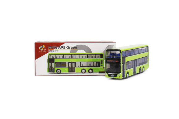 TINY MODEL 1:110 MAN A95 GREEN BUS * BUS SERVICE 854 * NEW RELEASE