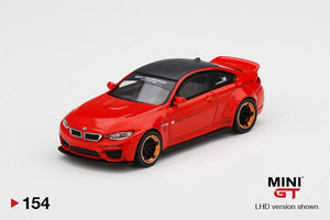 ⚫️  PRE ORDER ⚫️ MINI GT 1:64 #154 LB WORKS BMW M4 Red w/ Copper Wheel