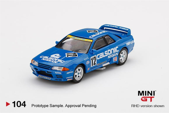 MINI GT #104 1:64 Nissan Skyline GT-R R32 Gr.A#12 Calsonic 1993 Japan Touring Car Championship