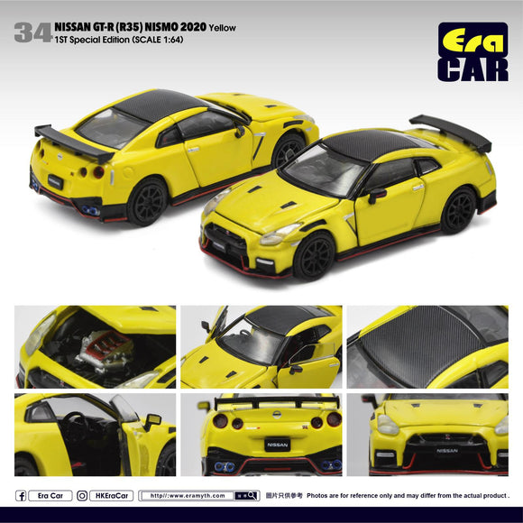 ERA CAR #34 NISSAN GT-R R35 NISMO 2020 YELLOW ( 1ST SPECIAL EDITION )  - PRE ORDER