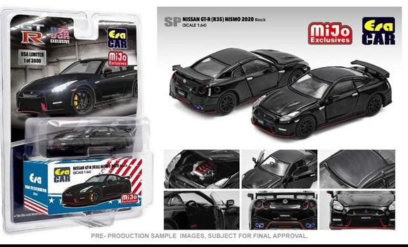 ERA Car 1:64 Mijo Exclusives USA 2020 Nissan GT-R R35 Nismo Black Limited Edition