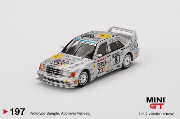 * PRE ORDER * MINI GT #197 1:64 Mercedes-Benz 190E 2.5-16 Evolution II #6 Berlin 1992 DTM Zolder LHD  China Exclusives