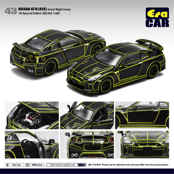 ERA CAR #43 NISSAN GT-R R35 SMART NIGHT LIVERY- PRE ORDER