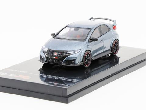 Tarmac Works 1/64 HONDA CIVIC TYPE R FK2 POLISHED METAL GREY (MALAYSIA LIMITED EDITION)