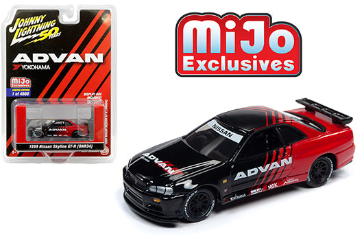 JOHNNY LIGHTNING NISSAN SKYLINE R34 * MIJO EXCLUSIVE *