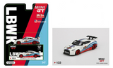 MINI GT #133 1:64 Mijo Exclusive LB WORKS Nissan GT-R R35 Type 1 Rear Wing Martini Racing Limited 2,400 Pcs