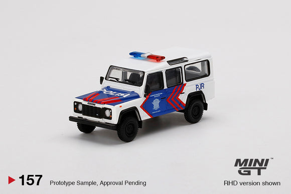 * PRE ORDER * MINI GT #157 1/64 Land Rover Defender 110  Korlantas (Indonesia National Traffic Police) EMS Exclusive