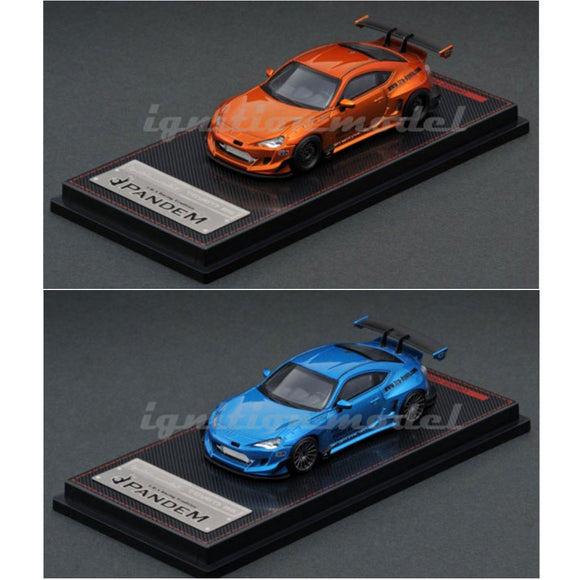 IGNITION MODEL1/64 PANDEM TOYOTA 86 V3 Orange Metallic & Blue Metallic 💥 BUNDLE 💥