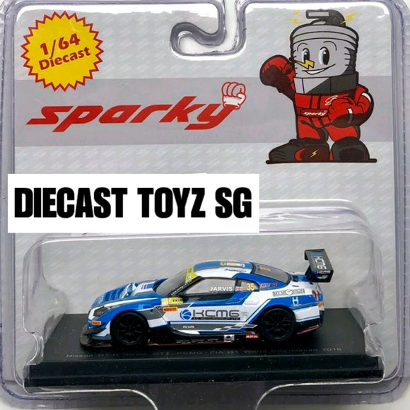 Spark Model 1:64 Sparky - Nissan GT-R Nismo GT3 No.35 KCMG - FIA GT World Cup Macau 2018 - Olive Jarvis