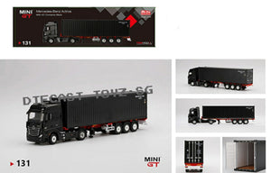 * PRE ORDER * MINI GT 1:64 Mijo Exclusive Mercedes Benz Actros 40' Dry Container Black Limited   - MIJO EXCLUSIVE