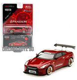 1:64 MINI GT #92 Nissan GT-R (R35) PANDEM LAVA RED WITH GT WING