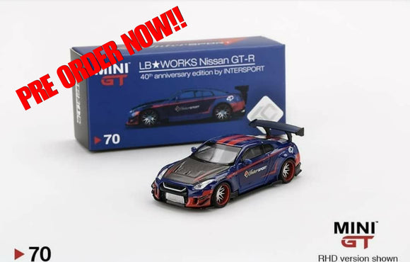 MINI GT #70 NISSAN GT-R R35 40TH ANNIVERSARY EDITION BY INTERSPORT * PRE ORDER *