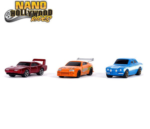 "Jada Metals Nano Hollywood Rides - Fast & Furious 2019 Series 1 - (3-Pack) (~1.65"")"