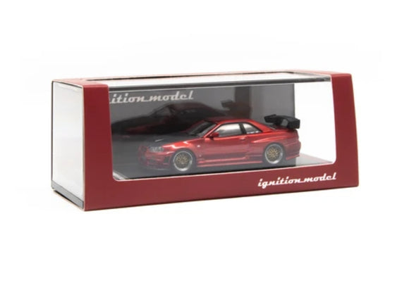 IGNITION MODEL IG 1871 1/64 NISSAN SKYLINE GT-R R34 RED - JAPAN EXCLUSIVE COLOUR