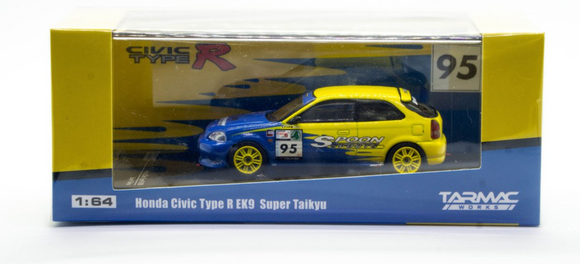 TARMAC WORKS 1/64 HONDA CIVIC TYPE R EK9 SUPER TAIKYU #95 SPOON