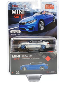 MINI GT#122 CHASE MIJO EXCLUSIVES BMW M4 YAS MARINA BLUE EDITION