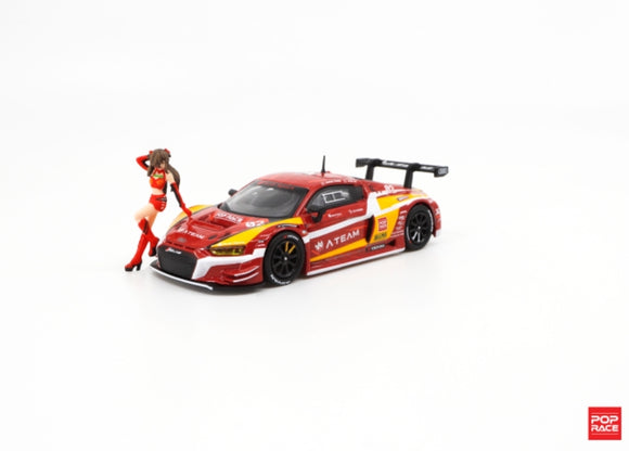 *PRE ORDER* POPRACE 1/64 Audi R8 LMS EVA RT Production Model-02 X Works R8 with Race Queen Figure