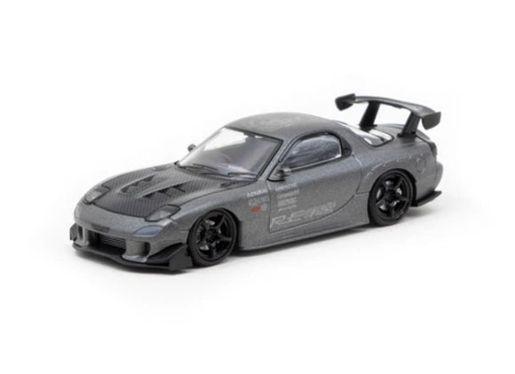 IGNITION MODELS 1/64 MAZDA RX-7 (FD3S) RE AMEMIYA TITANIUM GRAY *TARMAC WORKS EXCLUSIVE EDITION - IG2061