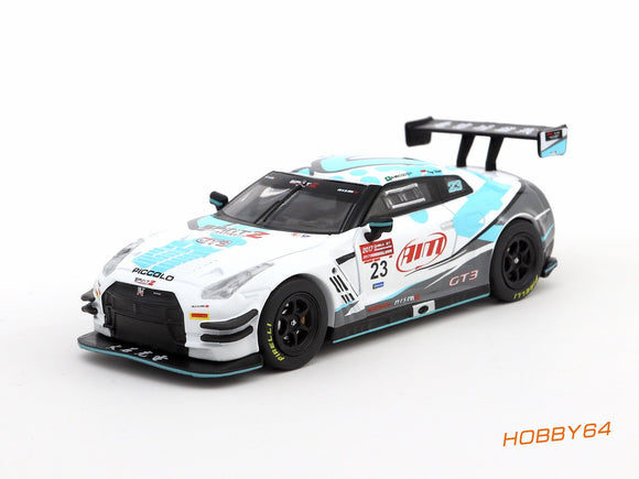 TARMAC WORKS HOBBY64 1:64 NISSAN GT-R R35 CHINA GT 2017 #23 ANDRE COUTO (CHARITY MODEL)