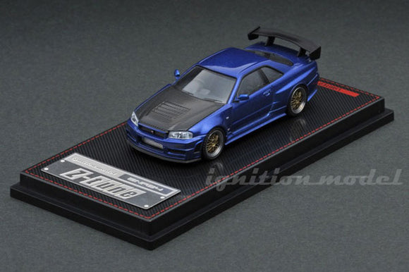IGNITION MODEL IG 1869 1/64 Nissan Nismo R34 GT-R Z-tune Blue Metallic