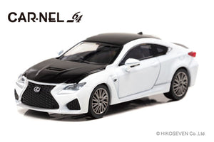 "CARNEL 1/64 1/64 Lexus RC F ""Carbon Exterior Package"" 2018 White Nova Glass Flake"