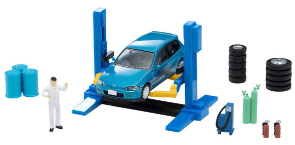 Tomicarama Vintage 06a Car Lift * Honda Civic TOMICA LIMITED VINTAGE INCLUDED *