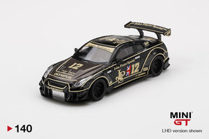 ⚫️  PRE ORDER ⚫️ MINI GT #140 1:64 LB WORKS Nissan GT-R R35 Type 2 Rear Wing Ver 3 JPS