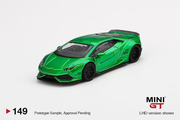 ⚫️ PRE ORDER ⚫️ MINI GT #149 LB WORKS Lamborghini Huracan Version 2 Green