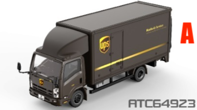 * PRE ORDER * Tiny City 137 Die-cast Model Car - ISUZU N Series Box Lorry UPS