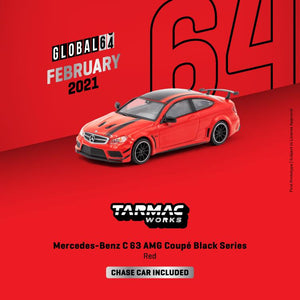 * PRE ORDER * TARMAC WORKS 1/64 MERCEDES - BENZ C 63 AMG COUPÉ BLACK SERIES - RED