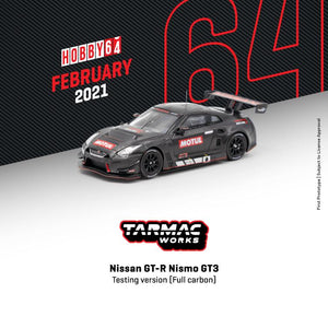 * PRE ORDER * TARMAC WORKS 1/64 Nissan GT-R NISMO GT3 TESTING VERSION FULL CARBON