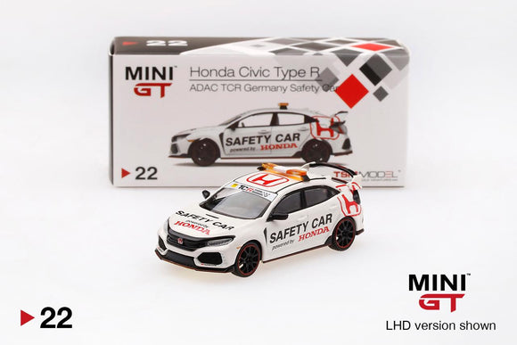 1:64 MINI GT #22 HONDA CIVIC TYPE R ADAC TCR GERMANY SAFETY CAR ⭐⭐ INDONESIA EXCLUSIVE  ⭐⭐