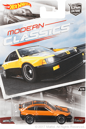 Hot Wheels 1985 Honda CR-X Modern Classics 1:64