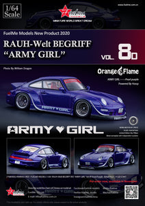 "FUEL ME MODELS 1/64 RAUH-WELT BEGRIFF 993 ""ARMY GIRL"" VER.4 PEARL PURPLE ""ORANGE FLAME"""