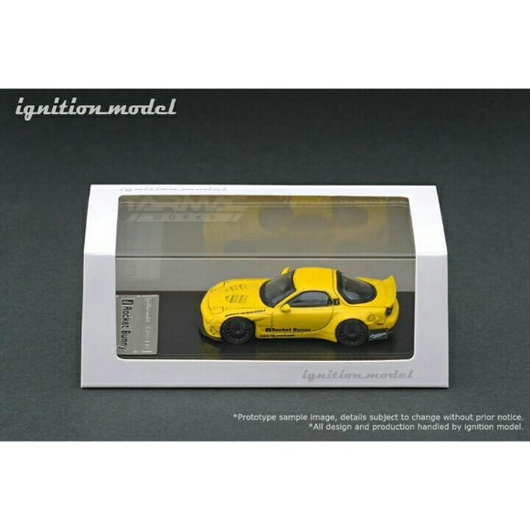 Ignition Model 1/64 Rocket Bunny RX-7 (FD3S) YELLOW IG1410
