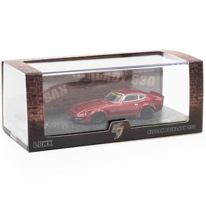 KJ Miniatures 1/64 LBWK FairLady S30 Metallic Red Diecast Scale Model Car
