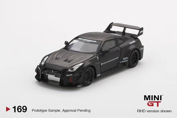 MINI GT #169 1:64 LB-Silhouette WORKS GT Nissan 35GT-RR Ver.1 Black (RHD) * CHINA EXCLUSIVE *