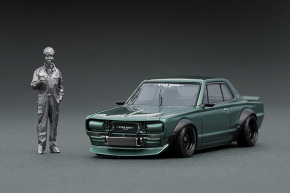 Ignition Model 1/43 Nissan Skyline 2000 GT-R (KPGC10) STAR ROAD Green CARTOYS ver.    (IG1884)