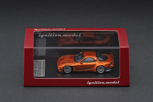 Ignition Model 1/64 Rocket Bunny RX-7 (FD3S) Orange Metallic IG 1650